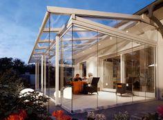 ❧ Aluminium patio canopy (glass cover) - SOLARLUX® : SDL ATRIUM - Spectrum Installations Ltd