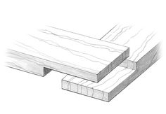 Quick and simple to produce, lap joints offer a decent amount of strength without too much fuss.