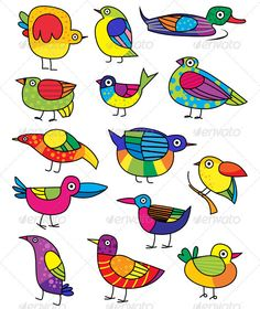 Find Vector Set Funny Birds stock images in HD and millions of other royalty-free stock photos, illustrations and vectors in the Shutterstock collection. Bird Drawings, Doodle Drawings, Doodle Art, Easy Drawings, Madhubani Art, Madhubani Painting, Bird Drawing For Kids, Bird Clipart, Funny Birds