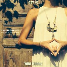 """YONI MUDRA helps to completely detach from the chaos of the outer world & quiet the mind. Its name is derived from the word Yoni, which means """"uterus"""", because like a baby in the uterus, the practitioner has no external contact with the world and, therefore, no externalization of consciousness. In Yoni Mudra yogis not only visualize each one of the chakras, but also listen intently to inner sounds or """"the mystic sounds"""". Practicing this, one can find their nervous system to be calmed & stabl"""