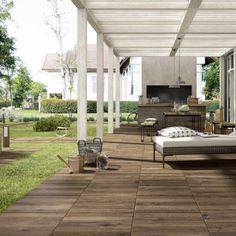 Tiles for the modern garden 50 valuable ideas Outdoor Tiles, Outdoor Spaces, Outdoor Living, Outdoor Decor, Marazzi Tile, Landscape Design, Garden Design, Tapis Design, Decks