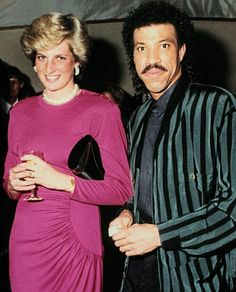 THE LATE DIANA, PRINCESS OF WALES (1961-1997) & SINGER LIONEL RICHIE