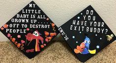 25 Graduation Cap Ideas for 2018 - How to Decorate Your Graduation Hat Funny Graduation Caps, Graduation Cap Designs, Graduation Cap Decoration, Nursing Graduation, High School Graduation, College Graduation, Graduation Ideas, Decorate Cap For Graduation, Funny Grad Cap Ideas