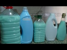 Jabón Liquido Quitamanchas - Rinde Mucho Y Cuesta Muy Poco - YouTube Drink Bottles, Cleaning Supplies, Water Bottle, Drinks, Soaps, Diy, Youtube, Ideas, Embroidery Alphabet