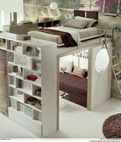 Google+ bedroom idea for my attic or basement. Use the space idea.