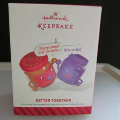 2014 Hallmark Keepsake Better Together Peanut Butter & Jelly Ornament NEW in Collectibles, Decorative Collectibles, Decorative Collectible Brands | eBay