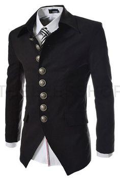 2017 New Arrival Mens Blazer Jacket Multi-button Design Men's Casual Slim Fit Suit Jacket Fashion Casual, Fashion Night, Men Casual, Mens Fashion, Fashion Site, Fashion Menswear, Fashion Spring, Korean Fashion, Mode Masculine