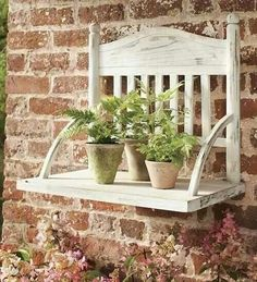 Turn an Old Chair into a Hanging Plant Shelf…awesome Upcycled Ideas! Turn an Old Chair into a Hanging Plant Shelf…awesome Upcycled Ideas! Repurposed Furniture, Shabby Chic Furniture, Antique Furniture, Retro Furniture, Rustic Furniture, Outdoor Furniture, Repurposed Items, Refurbished Furniture, Furniture Projects