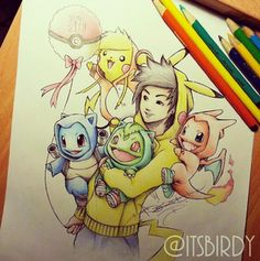 absolutely adorable Pokémon illustrations by Instragram user itsbirdy