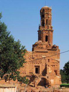 Belchite Viejo. Zaragoza. Iglesia del Convento de San Agustin. Siglos XVI-XVIII.