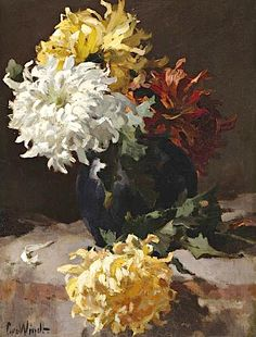 "Chris van der Windt (1877-1952) ~ ""Chrysanten"""