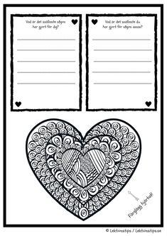 social kompetens, gratis lektioner, lektion, lektionsmaterial, skola, fritids, lektionstips, lektioner, övningar i att berätta, berätta, skrivövningar, eleverna reflekterar, Boken om mig, presentera sig själv, mina vänner, vänskap, vad är en bra vän Social Activities, Teaching Resources, Valentine Day Crafts, Valentines, Bra Hacks, Pearl Design, Writing Paper, Future Classroom, Social Skills