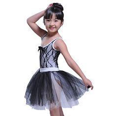 dancewear desempeño tanque leotardo con tutú vestido de ballet para niños – USD $ 39.99