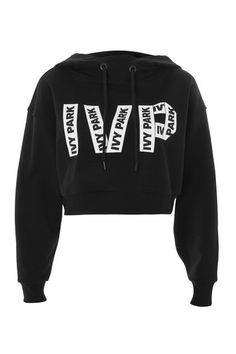 Logo Printed Cropped Hoodie by Ivy Park - Topshop Ivy Park Hoodie, Summer Outfits, Cute Outfits, Beyonce Style, Workout Attire, Sports Luxe, Cropped Hoodie, Hoodies, Sweatshirts