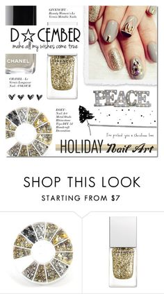 """HOLIDAY NAIL ART"" by larissa-takahassi ❤ liked on Polyvore featuring beauty, Givenchy and Grandin Road"