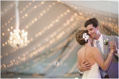 Bride and groom  |  Wedding pictures  |  First dance  |  Wedding lights  |  Chandelier | Wedding dress  |  Portraits  |  Aislinn Kate Photography
