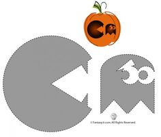 12 Unique Pumpkin Carving Templates. curious Gearge, Wild Things, Pac Man, and more