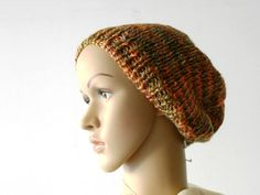 chunky knit beanie rust melange hand knitted beanie by cosediisa