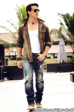 G Star Jacket, Bomber Jacket, Tiger Shroff Body, Best Bollywood Movies, Allu Arjun Images, Tiger Love, Actors Images, Background Images For Editing, Bollywood Stars
