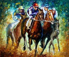 Leonid Afremov Riders I oil painting reproductions for sale