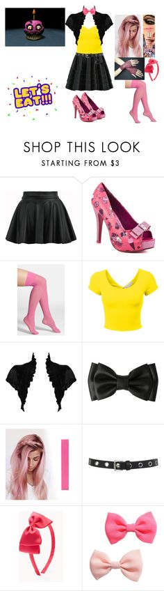 """""""Nightmare Cupcake- FNAF 4"""" by nicoleoliviaberry ❤ liked on Polyvore featuring Iron Fist, DKNY, Freddy, Miss Selfridge, Forever 21 and H&M"""