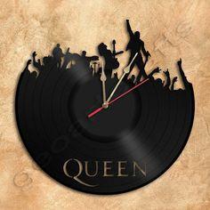 Wand Uhr Queen-Vinyl-LP Clock Upcycled Geschenkidee