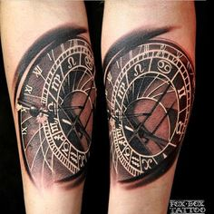 Astronomical Clock Tattoo