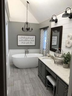 Interesting Farmhouse Decor Ideas For Bathroom Consequently a bathtub is one of the most essential aspects when choosing new pieces to acquire a bathroom. Read Interesting Farmhouse Decor Ideas For Bathroom Diy Bathroom Decor, Budget Bathroom, Bathroom Renovations, Bathroom Interior, Bathroom Ideas, Bathroom Organization, Bathroom Makeovers, Remodel Bathroom, Bathroom Storage