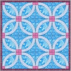 Wedding Ring Quilt Pattern http://quilting.myfavoritecraft.org/wedding-ring-quilt-pattern/