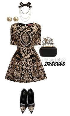 """Throw-and-go-dresses"" by captainsilly ❤ liked on Polyvore featuring Chi Chi, Versace, Alexander McQueen, Lanvin and Chanel"