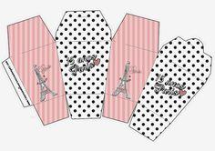 15 Años París: Cajas para Imprimir Gratis.. ..♥.Nims.♥
