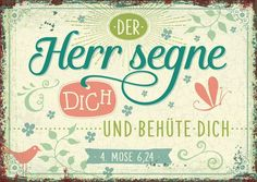 www.segensart.de - der Herr segne dich