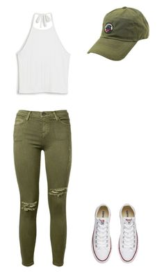 """""""No makeup"""" by meggrace04 on Polyvore featuring Monki, Current/Elliott, Converse and Southern Proper"""