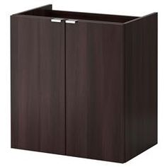 IKEA LILLÅNGEN Wash-basin cabinet with 2 doors Black-brown cm Perfect in a small bathroom since the wash-basin cabinet is shallow. Ikea Sink Cabinet, Wash Basin Cabinet, Ikea Bathroom Vanity, Small Bathroom, Ikea Lillangen, Frame Shelf, Upstairs Bathrooms, Downstairs Loo, Closets