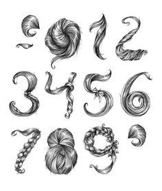 hair numbers!