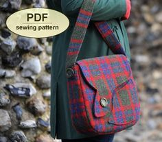 Sewing pattern to make the Sudbury Saddle Bag  PDF by charliesaunt