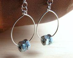 Chandelier Dangle Earrings Long Hardware Jewelry by additionsstyle