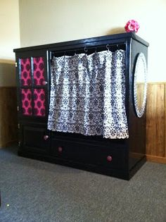 7 DIY Dress Up Storage Solutions | You Put it Up. I have an old entertainment center that I could use for this
