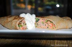 Salmon and Broccoli Crepes