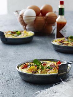 oppskrifter med egg: Tortilla med chorizo og paprika - KK.no