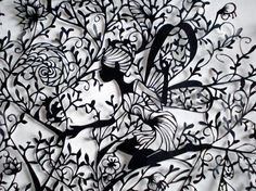 Paper cut by Hina Aoyama. http://www.flickr.com/photos/37051688@N00/   #Black #White