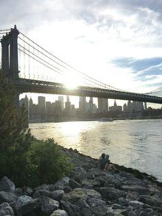 #newyork #bridge #lovers #happy #happycouple
