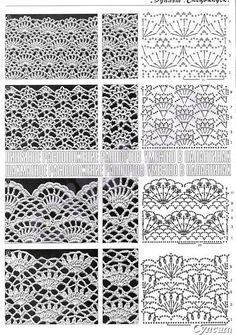 ONLY POINTS: Crochet lace points