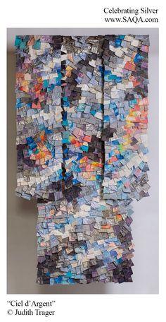 Art quilt by Judith Trager #artquilts #SAQA #fiberart