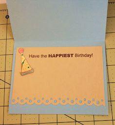 ~ Marilyn's Cricut Cards ~: hat from Birthday Bash - ava 40th Birthday Cards, Birthday Bash, Card Sentiments, Making Greeting Cards, Cricut Cards, Stamping Up Cards, Diy Cards, Homemade Cards, Birthday Decorations