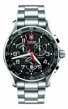 Victorinox Swiss Army Silver Stainless Band Black Dial - Men's Watch 241443 Victorinox Swiss Army. $699.00