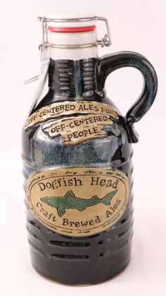 Dogfish head handcrafted ceramic 64 oz beer growler #353 rare!! new