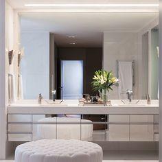 Banheiro lindo! #assimeugosto #espelho #banheiro