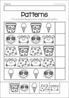 Risultati immagini per kindergarten patterning summer Summer Preschool Activities, Preschool Printables, Preschool Math, Preschool Worksheets, Toddler Preschool, Summer Worksheets, Pattern Worksheet, Transitional Kindergarten, Kindergarten Prep