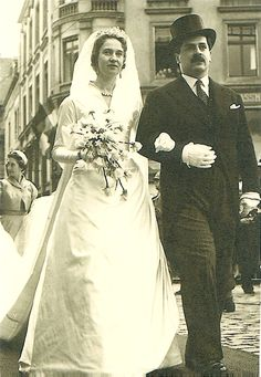 Princess Marie-Adelaide of Luxembourg and her groom, Count Karl Josef Henckel von Donnersmarck, on their wedding day, April 10, 1958. Description from pinterest.com. I searched for this on bing.com/images